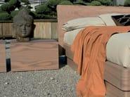 Square wooden bedside table QUARANTACINQUE | Bedside table - Fimar