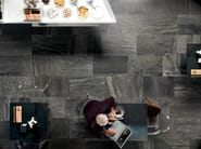 Porcelain stoneware wall/floor tiles with stone effect QUARRY BLACK - ASTOR CERAMICHE