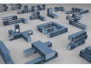 Freestanding custom metal shelving unit QUATTRO - VIDAME CREATION