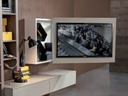 Lacquered adjustable wall-mounted TV cabinet RACK BOX - Fimar