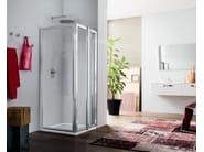 Corner glass shower cabin with hinged door RAPID - 4 - INDA®