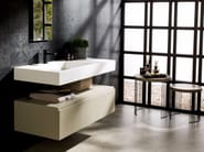 Rectangular Krion® washbasin with integrated countertop RAS | Washbasin with integrated countertop - Systempool