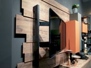 Modular storage wall REBEL SYSTEM | Storage wall - Fimar