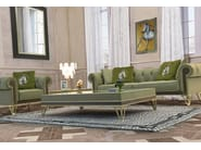 Rectangular leather coffee table for living room GRANADA | Rectangular coffee table - Formitalia Group