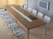 Rectangular meeting table with cable management IN | Rectangular meeting table - BALMA