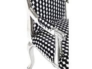Upholstered fabric armchair with armrests REGENCY CARO | Armchair with armrests - KARE-DESIGN