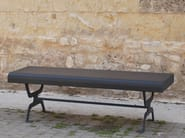 Backless galvanized steel Bench RETRÒ | Galvanized steel Bench - CITYSì