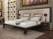 Leather double bed with tufted headboard RIBOT | Bed - Formitalia Group