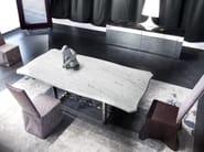 Rectangular marble living room table ROCKCOCÒ - ERBA ITALIA