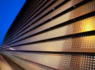 Perforated ROCKPANEL Metallics : no treatment needed