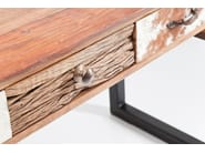 Lacquered steel and wood writing desk with drawers RODEO | Writing desk - KARE-DESIGN