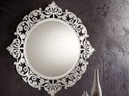 Wall-mounted framed mirror ROMANTICO | Round mirror - RIFLESSI
