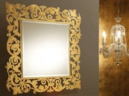 Wall-mounted framed mirror ROMANTICO | Square mirror - RIFLESSI
