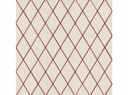 Porcelain stoneware wall/floor tiles ROMBINI LOSANGE WHITE RED - MUTINA