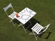Folding rectangular steel garden table ROY | Rectangular table - Talenti