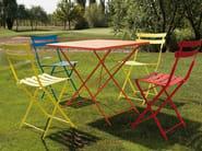 Folding steel garden table ROY | Square table - Talenti