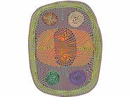Patterned round fabric rug WILD - Moooi©