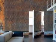 Panoramic wallpaper RUSTY GRATE - Inkiostro Bianco