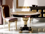 Round leather living room table S96 | Table - Rozzoni Mobili d'Arte