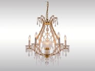 Classic style glass and iron chandelier SALON LUSTER - Woka Lamps Vienna