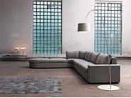 Corner fabric sofa with chaise longue SANDER | Corner sofa - Domingo Salotti