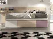Trundle single bed SANDWICH LINE - Zalf