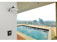 Wall-mounted stainless steel outdoor shower SANREMO Q - Inoxstyle