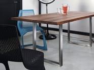 Rectangular wooden table SC25 - METALL | Wooden table - Janua