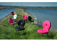 Upholstered imitation leather chair SEDI'OLA | Chair - Adrenalina