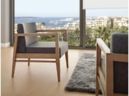 Leather easy chair with armrests SERENA | Easy chair - J. MOREIRA DA SILVA & FILHOS, SA