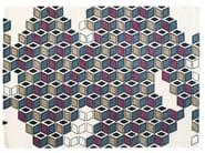 Handmade wool rug with geometric shapes SERENISSIME - Toulemonde Bochart