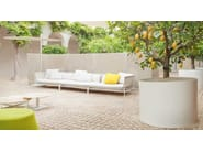 Stainless steel plant pot SHIELD - Paola Lenti