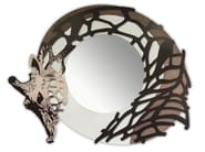 Round wall-mounted framed mirror SI-223-SP | Mirror - L.A.S.
