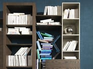 Wall-mounted floating bookcase SIDE 15 - Fimar