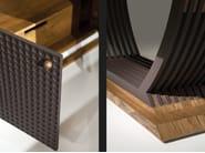 Wooden sideboard with doors CHOCOLATE | Sideboard - Mobi