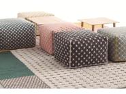 Upholstered fabric pouf SILAÏ | Pouf - GAN By Gandia Blasco