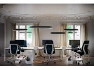 LED aluminium pendant lamp SILVER RING | Pendant lamp - PANZERI