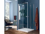 Glass shower cabin with folding door SIM - 1 - INDA®