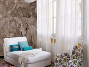Panoramic wallpaper with floral pattern SKIN IN BLOOM - Inkiostro Bianco