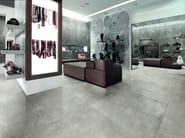 Porcelain stoneware flooring with concrete effect SKYLINE GHIACCIO - AVA Ceramica by La Fabbrica