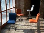 Swivel upholstered fabric chair SLIM CHAIR   Swivel chair - Domingo Salotti