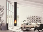 Wood-burning central hanging fireplace SLIMFOCUS - Focus