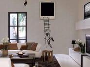 Motif panoramic wallpaper SLIP OUT - Inkiostro Bianco