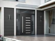 Porta d'ingresso blindata in legno con pannelli in vetro SMART I - Interno Doors