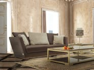 Upholstered 3 seater leather sofa ALHAMBRA | Sofa - Formitalia Group