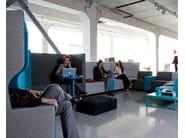 High-back fabric sofa BRICKS MEETING SOFA - Palau