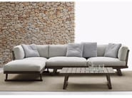 Garden sofa with chaise longue GIO | Sofa with chaise longue - B&B Italia Outdoor, a brand of B&B Italia Spa