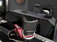 Scrivania rettangolare in fibra di carbonio con cassetti SPIDER | Scrivania - Tonino Lamborghini Casa