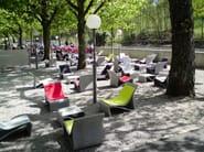 Low cement garden side table SPONECK | Coffee table - SWISSPEARL Italia