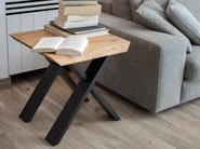 Low square wood veneer coffee table FOREST OAK | Square coffee table - Joli